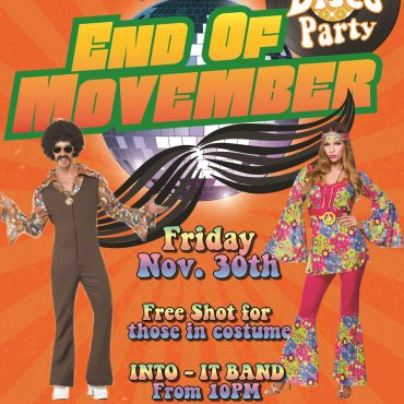End of Movember 70s Disco Party