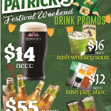St Paddy's Week Promos