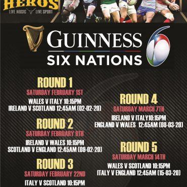 Six Nations at Hero's