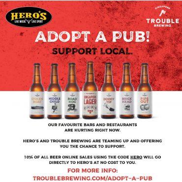 Support Hero's when you buy beer online!