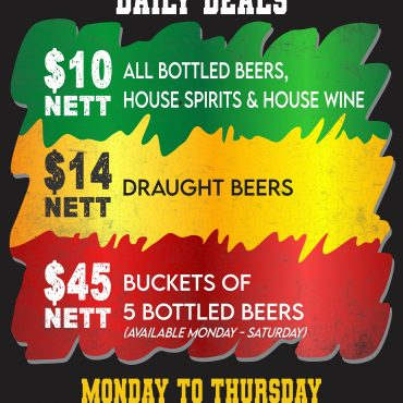 Daily Deals Mon thru Thurs!